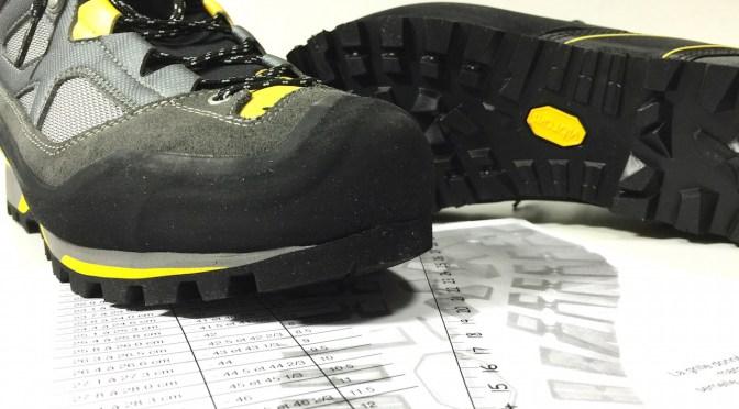 pointure chaussure de randonnée